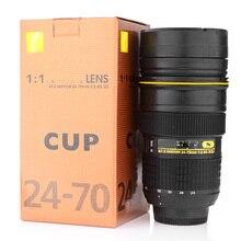 Lente de la cámara Lente taza 350-400 ML botella de agua de Acero Inoxidable Con Aislamiento Vaso (Modelado Nikon AF-S NIKKOR 24-70mm f/2.8G ED)