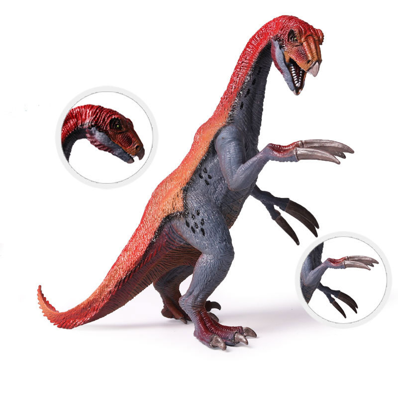 Dinosaur Model Toy Therizinosaurus PVC Figure Classic Toys Jurassic Zoo Collection Animals Model For Children mr froger aquatic creatures model toy shark wild animals toys zoo modeling set plastic solid sea life fish classic toys turtle