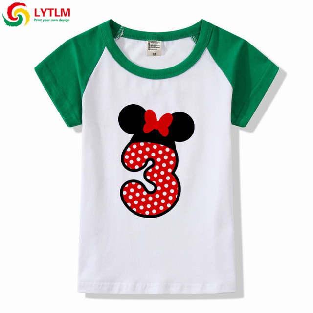 Online Shop LYTLM Happy Birthday 3 Years Kids Funny T Shirts Baby Girl Gift Clothes Boys And Girls Raglan Sleeve Shirt