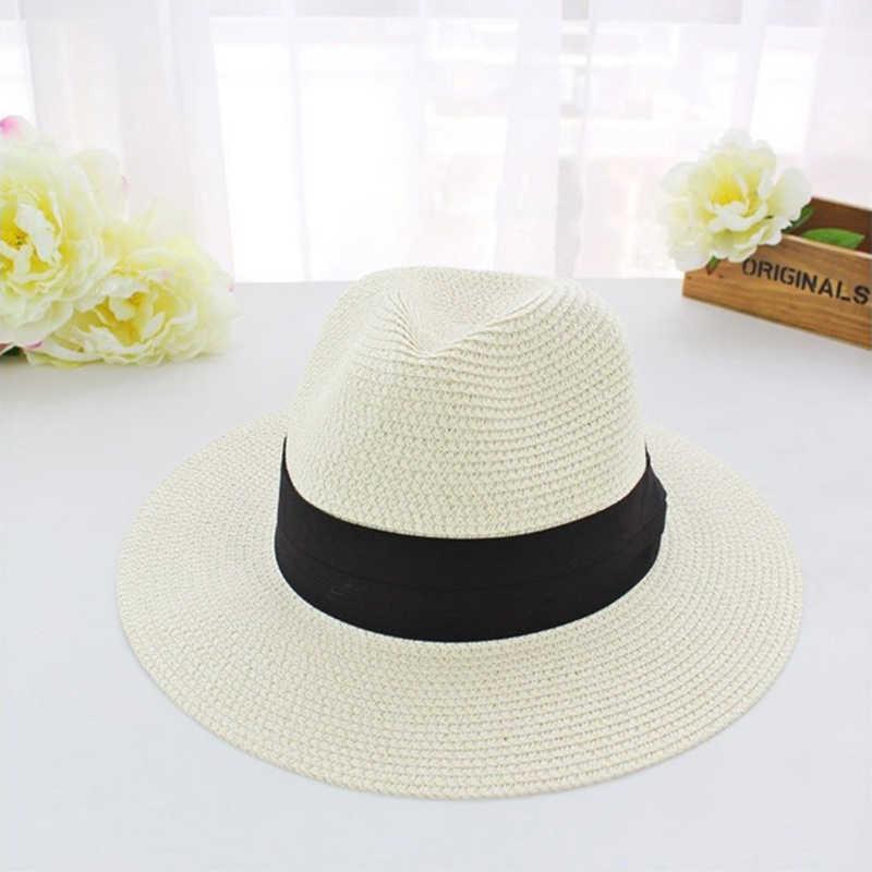 Summer Floppy Straw Beach Sun Hats Women Beach Hats Wide Brim Panama Hat chapeau femme paille ete chapeu feminino