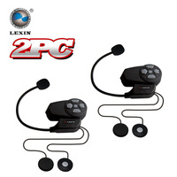 2PCS Lot 2015 Newest Version BT Bluetooth Helmet Intercom Motorcycle Wireless Interphone Headset Intercomunicador Motocicleta