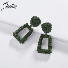 Joolim Jewelry Wholesale/Candy Color Green Red Geo Drop Earring Design Chic