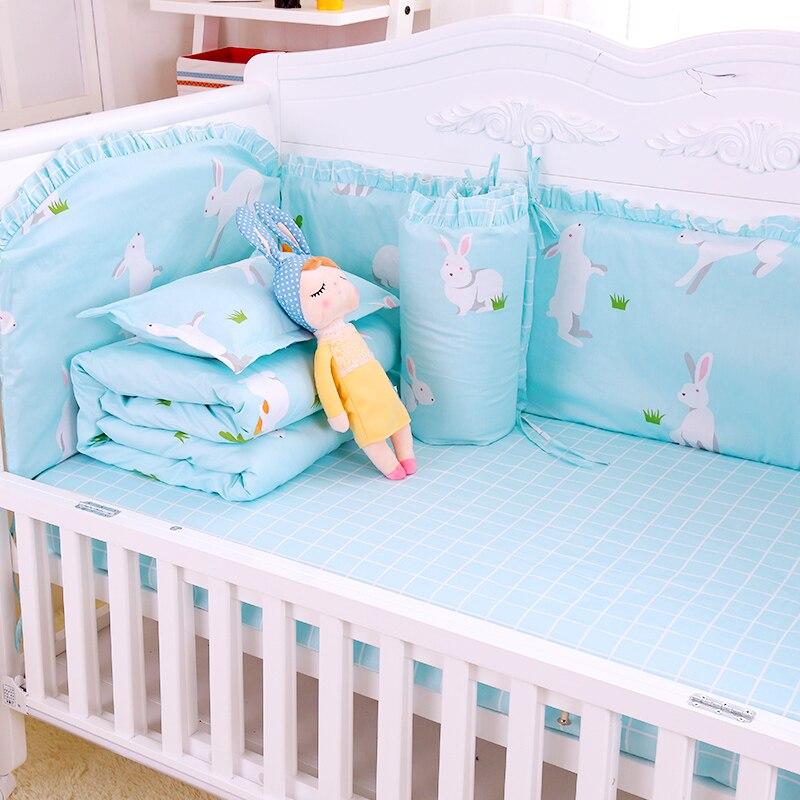 8pcs/set Soft Baby Crib Bedding Set Infant Bed Protector Newborn Bedding Set For Room Decor Cartoon Toddler Bed Kit Pillowcase8pcs/set Soft Baby Crib Bedding Set Infant Bed Protector Newborn Bedding Set For Room Decor Cartoon Toddler Bed Kit Pillowcase