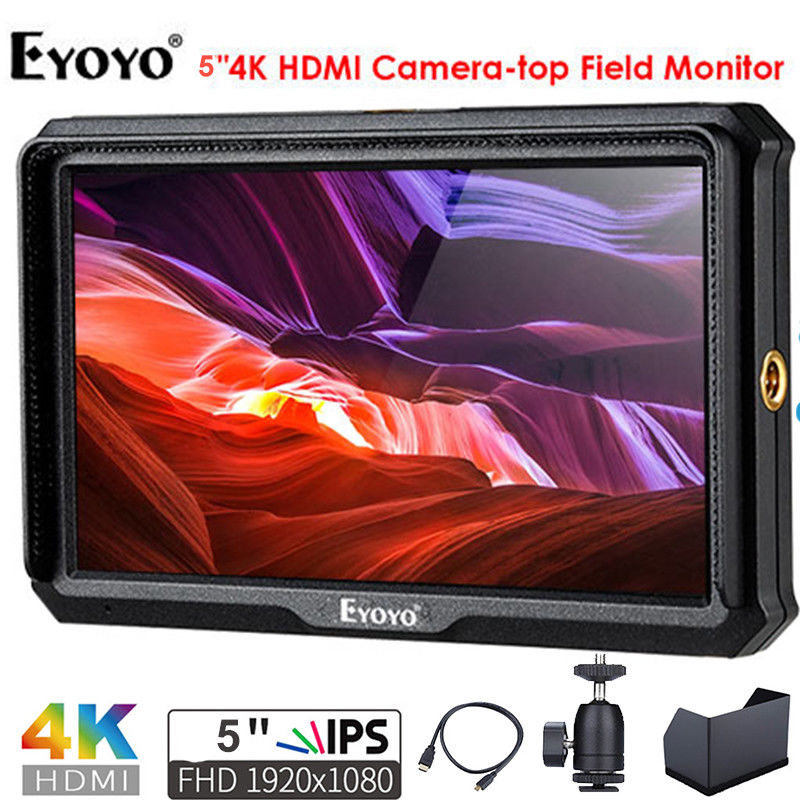 Eyoyo A5 5 Inch Utra Slim IPS Full HD 1920x1080 4K HDMI On-camera Video Field Monitor for Canon Nikon Sony DSLR Camera Video thl w200c octa core 720p 5 0 ips android 4 2 wcdma phone w otg 8gb rom gps black