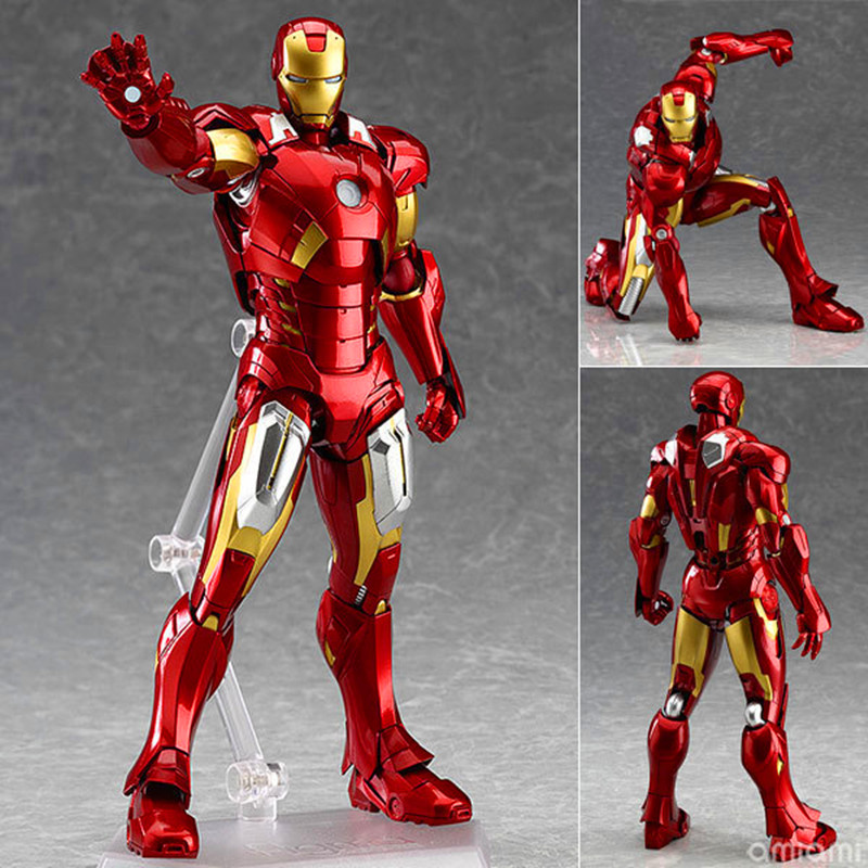 Avengers: Age of Ultron Iron Man 3 Figma 217 Mark XXI Tony Stark PVC Action Figure Collectible Model Toy Boxed W178 hot toys avengers age of ultron iron man mark mk 43 with led light pvc action figure collectible model toy