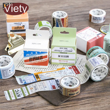 2-4cm*5m Vintage label Mood washi tape DIY decoration scrapbooking planner masking tape adhesive tape label sticker