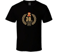 2017 Fashion Funny Casual Man Tops Tees Super Mario Bros 30th Anniversary Logo T Shirt Black