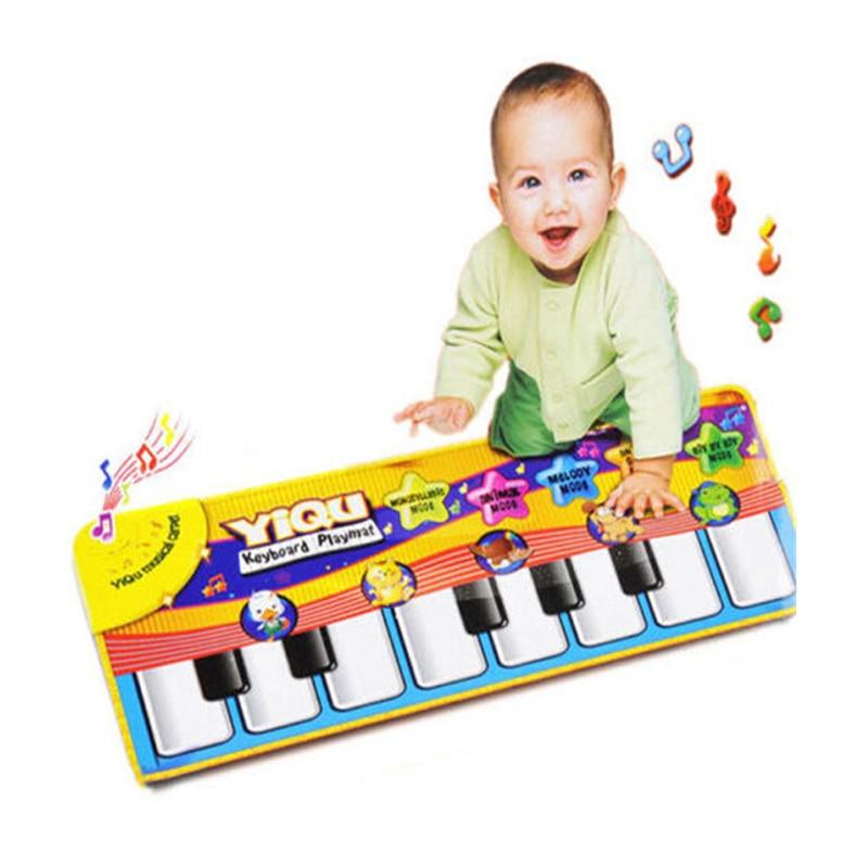 Купить с кэшбэком Children game blanket Multi-Color Colour Kids Baby Animal Piano Musical Touch Play Singing Gym Carpet Mat Toy Gift Music Carpet