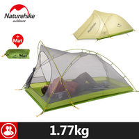 Naturehike 2 Person Camping Tent 20D Silicone Double Layer Hiking Beach Picnic Holiday Outdoor 2 Colors