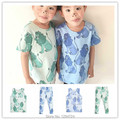 2017 spring summer lion print  baby boy clothes GIRLS LEGGING short t shirts+ PANTS 2 pcs clothing sets BOBO CHOSES SWEDEN KIDS