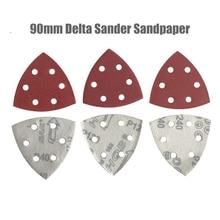 25PC 90mm Delta Sander Paper Hook & Loop Sandpaper Disc Abrasive Tools for Sanding Grit 40-2000
