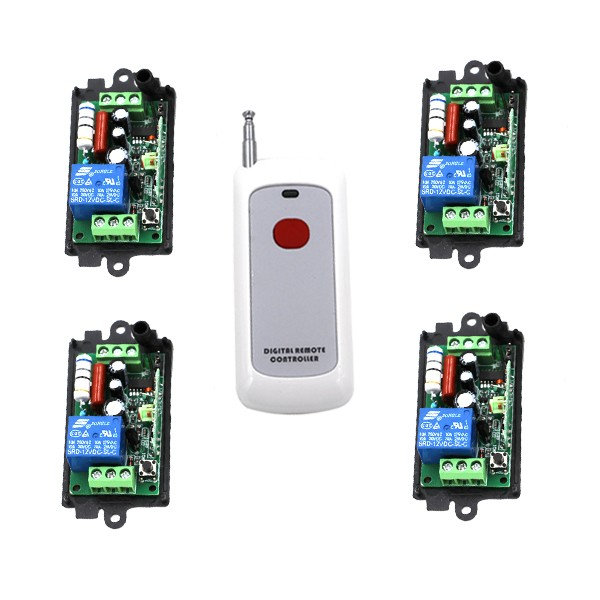 Wireless Remote Control Switch Systerm AC 110V 220V 1CH 1 Way ON / OFF RF Transmitter Receiver SKU: 5207 ac 250v 20a normal close 60c temperature control switch bimetal thermostat