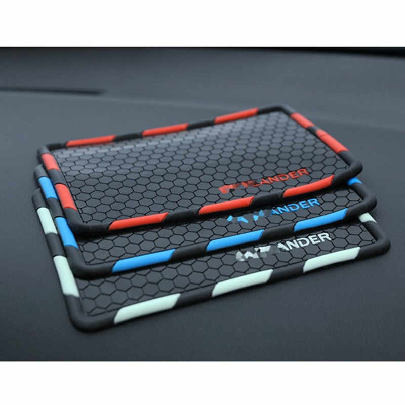 Car-Styling Mobile phone Non-Slip Mat Case For Mitsubishi Outlander 2013-2018 Badge Emblems Interior Accessories Car Styling