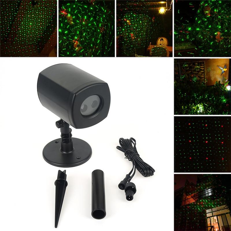 Christmas Laser Light Projector Waterproof  LED Star Light IP44 Outdoor Star Lights Show Xmas Garden RED GREEN Laser Light led star projector lamp
