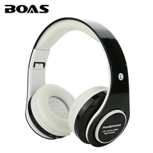 BOAS new wireless bluetooth stereo headsets foldable stereo headphone with mic support FM radio TF card earphone for smartphones