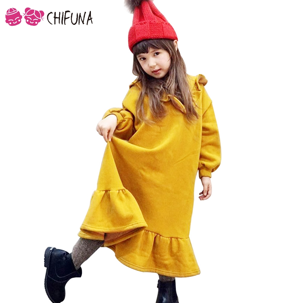 chifuna Autumn 2017 Fashion Girls Dress Cute Baby Costume Kids Party Dresses for 1-6Yrs Baby Ruffles Children's Princess Dress