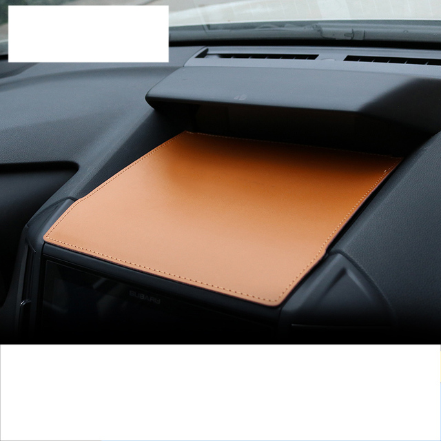 lsrtw2017 fiber leather car dashboard cellphone mat for subaru forester xv 2013 2014 2015 2016 2017 2018 2019 2020