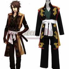 Cosplaydiy Hakuoki Cosplay Costume Okita Souji Mens Adult Halloween Cosplay Outfit Carvinal Suit Clothing D0519