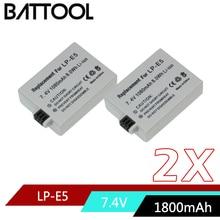 Аккумулятор для камеры 7,4 V 1800mAh LP-E5 LPE5 LP E5 для Canon EOS Rebel XS, Rebel T1i, Rebel XSi, 1000D, 500D, 450D, Kiss X3, X2, F