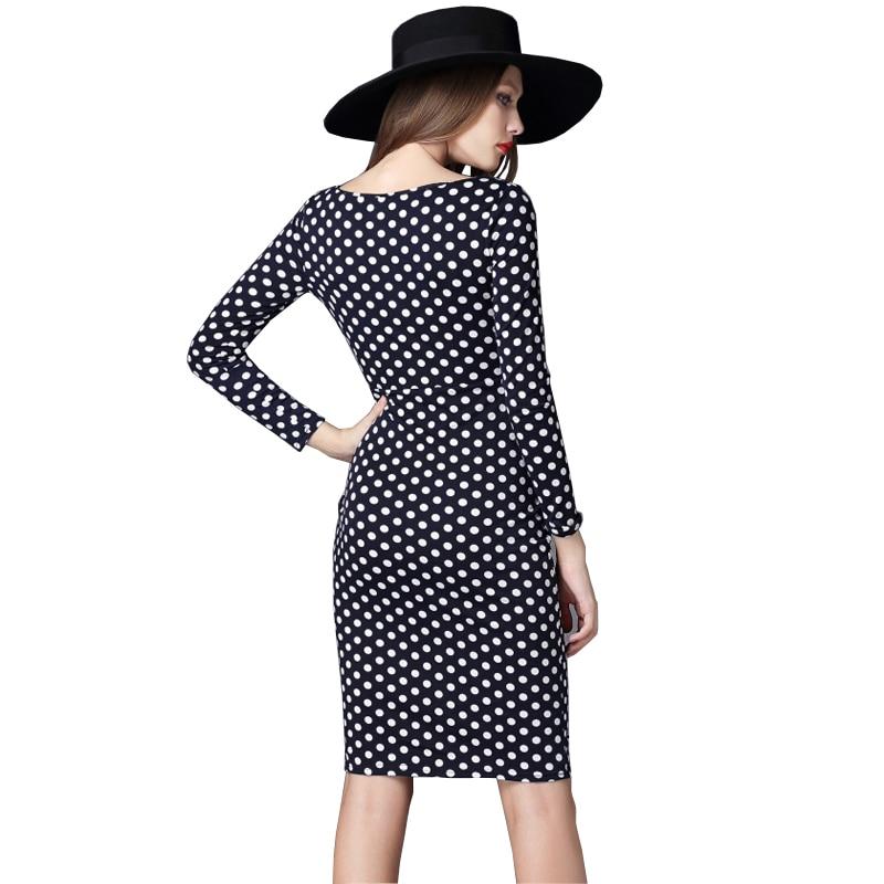 Kvinder Kontorkjole Nye ankomster Mode Polka Dots Slim Kvinder - Dametøj - Foto 5