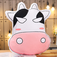Stuffed Animal Emoji Milk Cow Plush Toy Stuffed Toy Funny Cow Pillow For Kids Birthday Gift or Shop Home Decoration