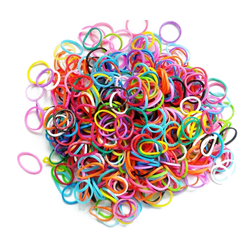 100 Pcs Mixed Color Rubber Bands Girls Pet Dog DIY Hair Grooming Accessories Bands Colored Top Elastic For Dog Topknot