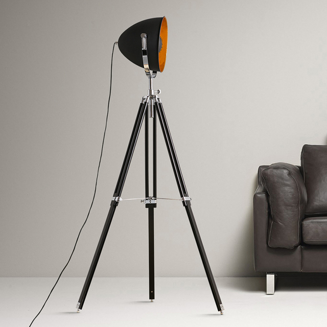Modern nordic floor lamp standard lamp iron shade wooden tripod modern nordic floor lamp standard lamp iron shade wooden tripod minimalist home office decoration reading mozeypictures Images