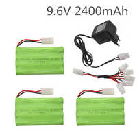 Ni-MH 9.6V 2400mAh AA Battery with 5in1 Charger For Remote Controul Toy Securty Faclities Battery Group Kep-2p Tamiya Plug