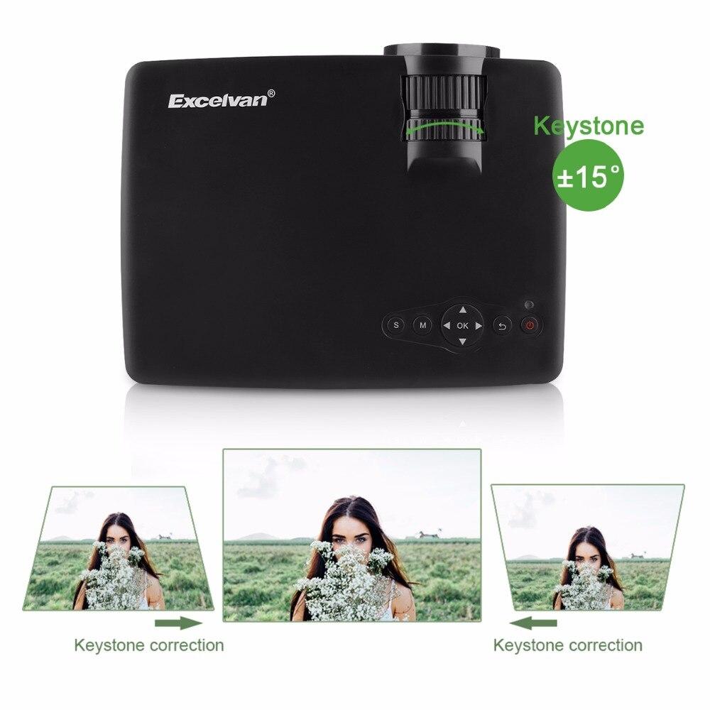 Salange P36 Мини проектор 1500 люмен Домашний кинотеатр видео проектор светодиодный проектор с Android 9,0 WiFi AV/HDMI/USB - 3