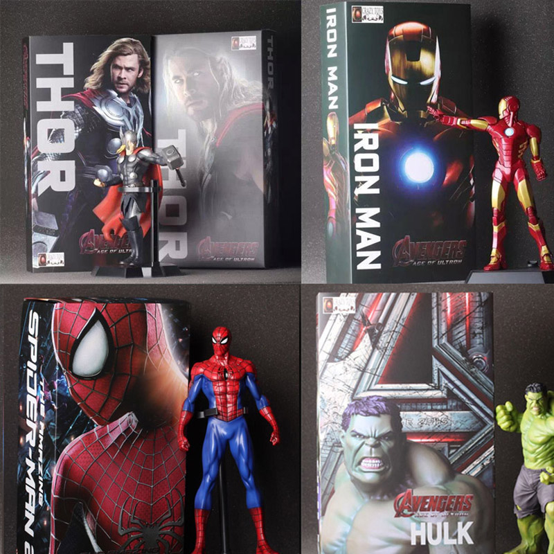 The Avengers Hulk PVC Iron Man Action Figure Thor Model Collection Toy Gift Captain America IronMan superhero Spiderman Superman  funko pop marvel the hulk no 08 red hulk no 31 iron man vinly bobble head pvc action figure collectible model toy gift for kids