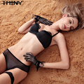 TAINY New Arrival Half Cup (1/2 Cup) Under Wire Solid Lace Sexy Low-cut Wedding Dress Seamless Underwear Bra Brief Sets