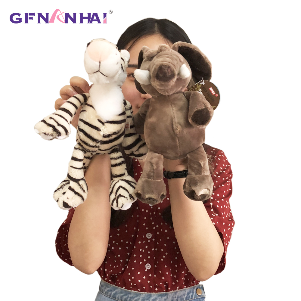 Image 3 - 5pcs/lot 25cm kawaii Forest Animal  Series Plush toy Cute Giraffe Elephant Lion Monkey Zebra Dolls Stuffed Soft toys for KidsStuffed & Plush Animals   -