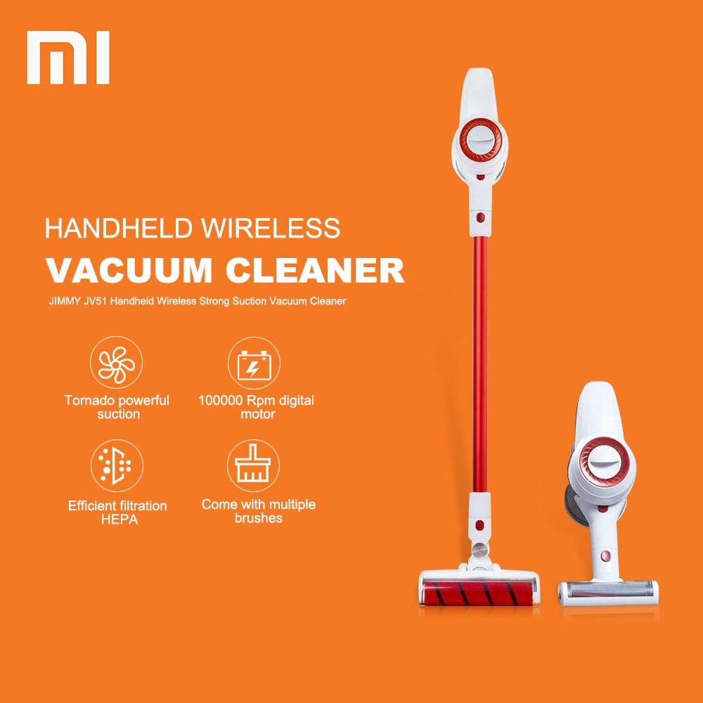 Nouveau 100000 rpm Xiaomi aspirateur JIMMY JV51 De Poche Sans Fil Forte Aspiration Sous Vide dépoussiéreur À Faible Bruit De Xiaomi Youpin