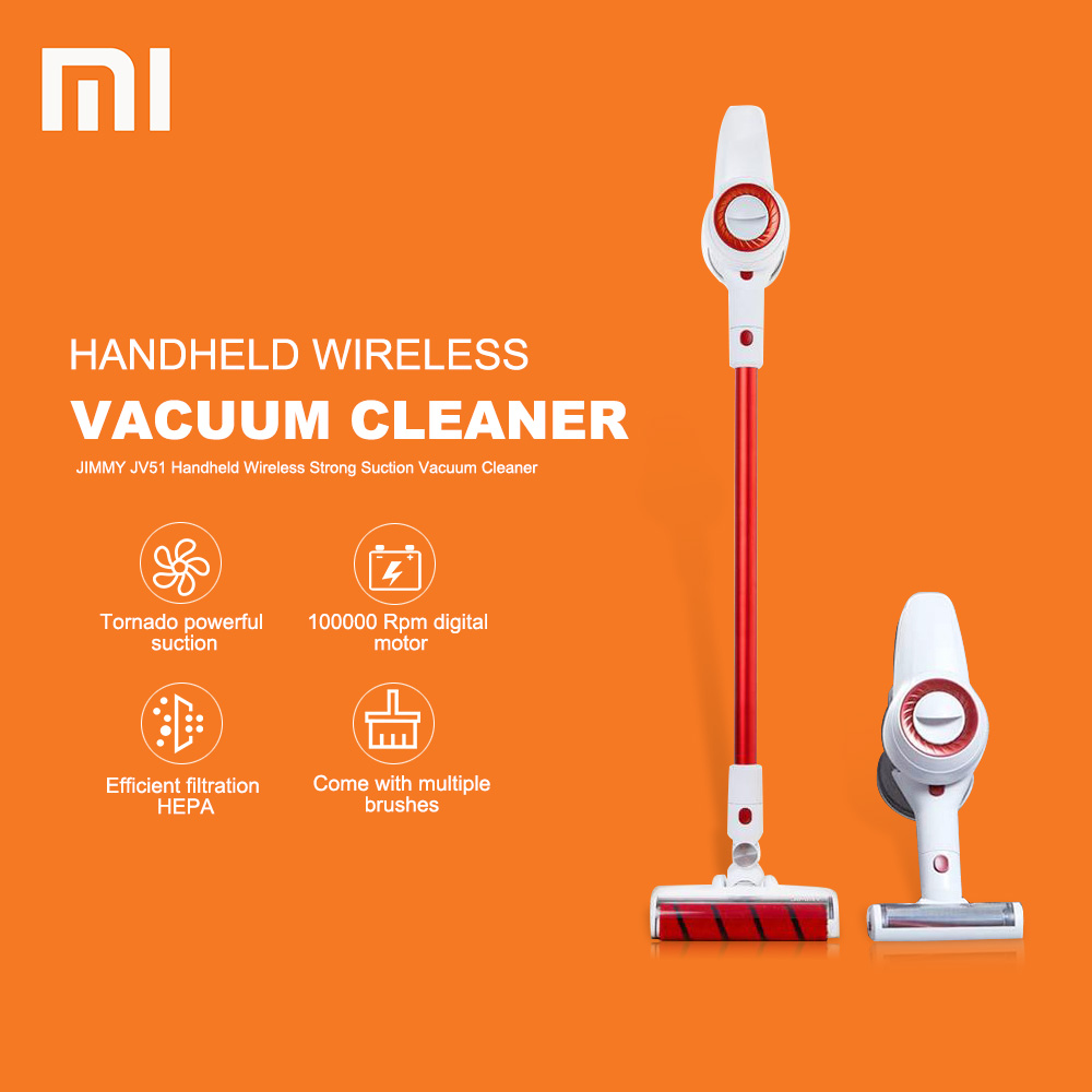 Novo 100000 rpm Xiaomi Aspirador JIMMY JV51 Forte Sucção A Vácuo Aspirador de Pó Portátil Sem Fio Baixo Ruído De Xiaomi Youpin