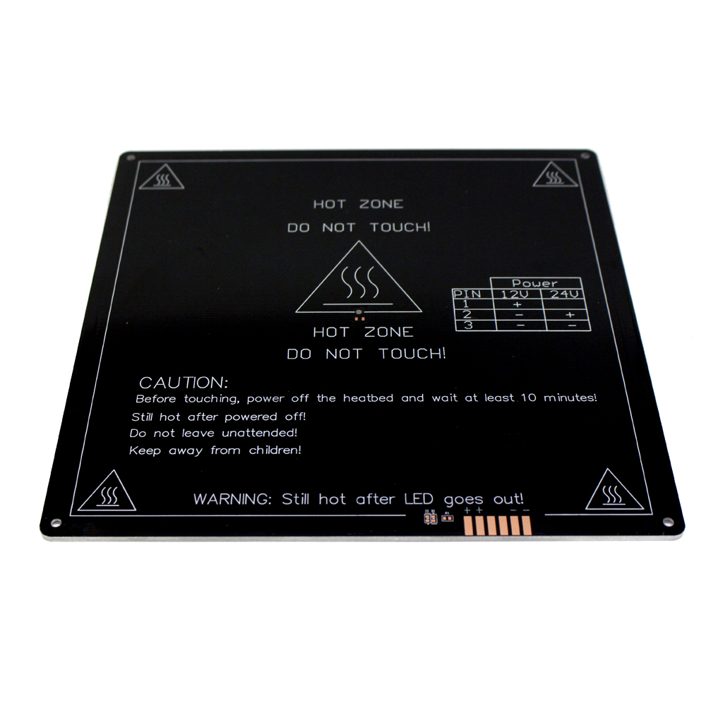 Dependable Upgraded Heated Bed 12v Round Corner Mk3 Heatbed 3d Printers Parts Aluminum Plate 220mm*220mm*3mm Hotbed Black Heat Heating Part 3d Printer Parts & Accessories