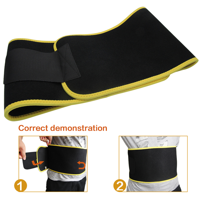 New Grade Adjustable Waist Trimmer Sweat Belt Shaper Slimming Wraps Perfect for Exercise Belly Weight Loss 5mm Thickness 3