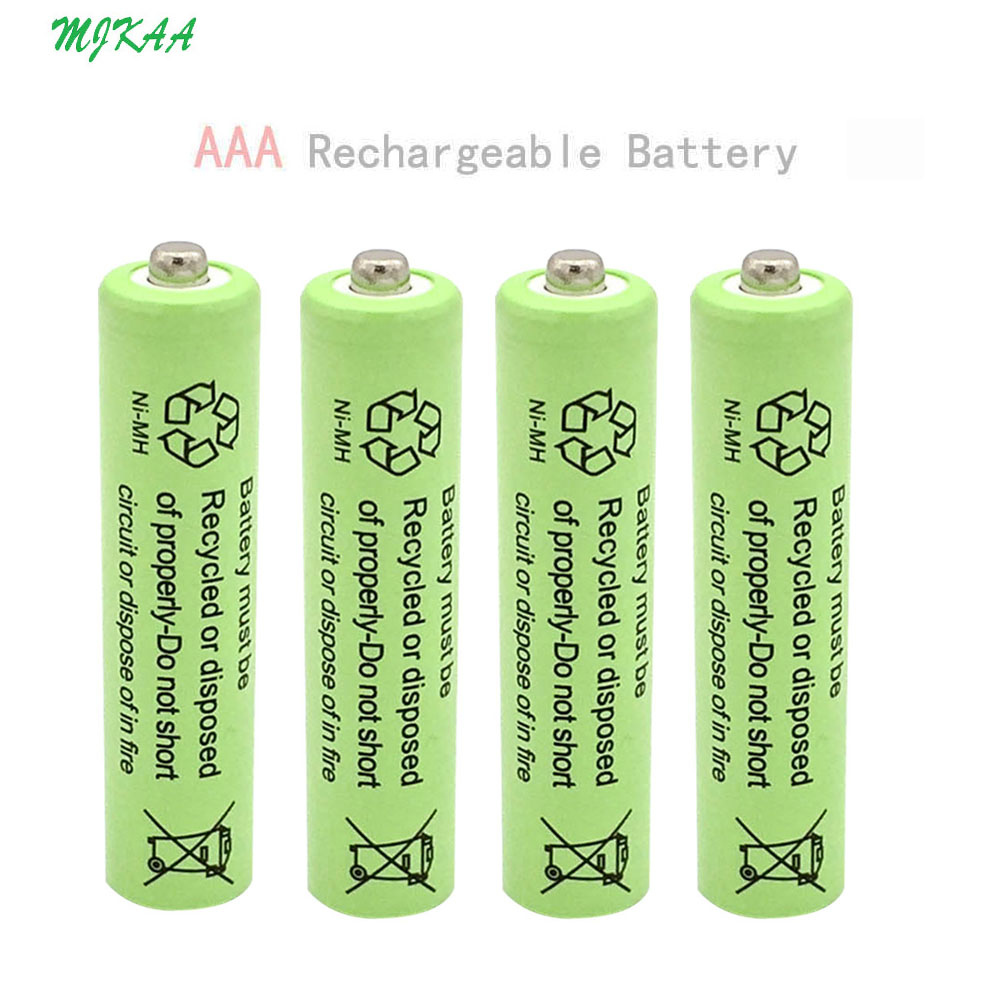 4 Pieces / Set AAA 750mAh 1.2V 100% High Quality Rechargeable Battery NI-mh Rechargeable NiMH Battery