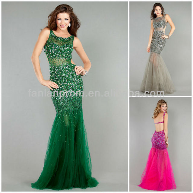 Free Shipping Best Selling Dark Green Pink And Silver Prom Dresses ...