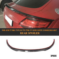 Carbon Fibre Rear Boot Lip Wing Spoiler for Audi TT MK3 8S TTS TTRS TT S Line Coupe 2 Door 2015 2016 2017 3PCS