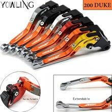 For ktm DUKE 200 RC200 200 Duke 2012 2013 2014 2015 2016 2017 2018 2019 CNC Motorcycle Folding Extendable Brake Clutch Levers