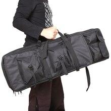 """100 سنتيمتر 40 """"بوصة مزدوجة جيوب SWAT المزدوج التكتيكية قدرة كبيرة حقيبة حمل أكياس ل بندقية الادسنس AEG بندقية الجيش الأخضر الأسود"""