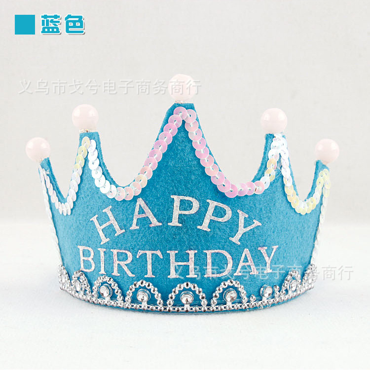 2015 Newest Hot Party Happy Birthday Hats Cute Prince And Princess Flash LED Crown Luminous Child Baby Causal Hat Headdress In From Home Garden