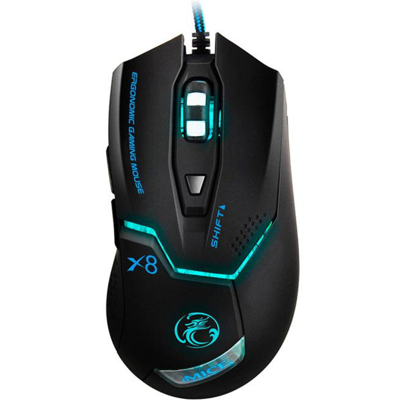 UTENTE affidabile per I giocatori high-end gaming mouse 3000 DPI LED Ottico 6D USB Wired Gaming Mouse Gioco Per PC Laptop