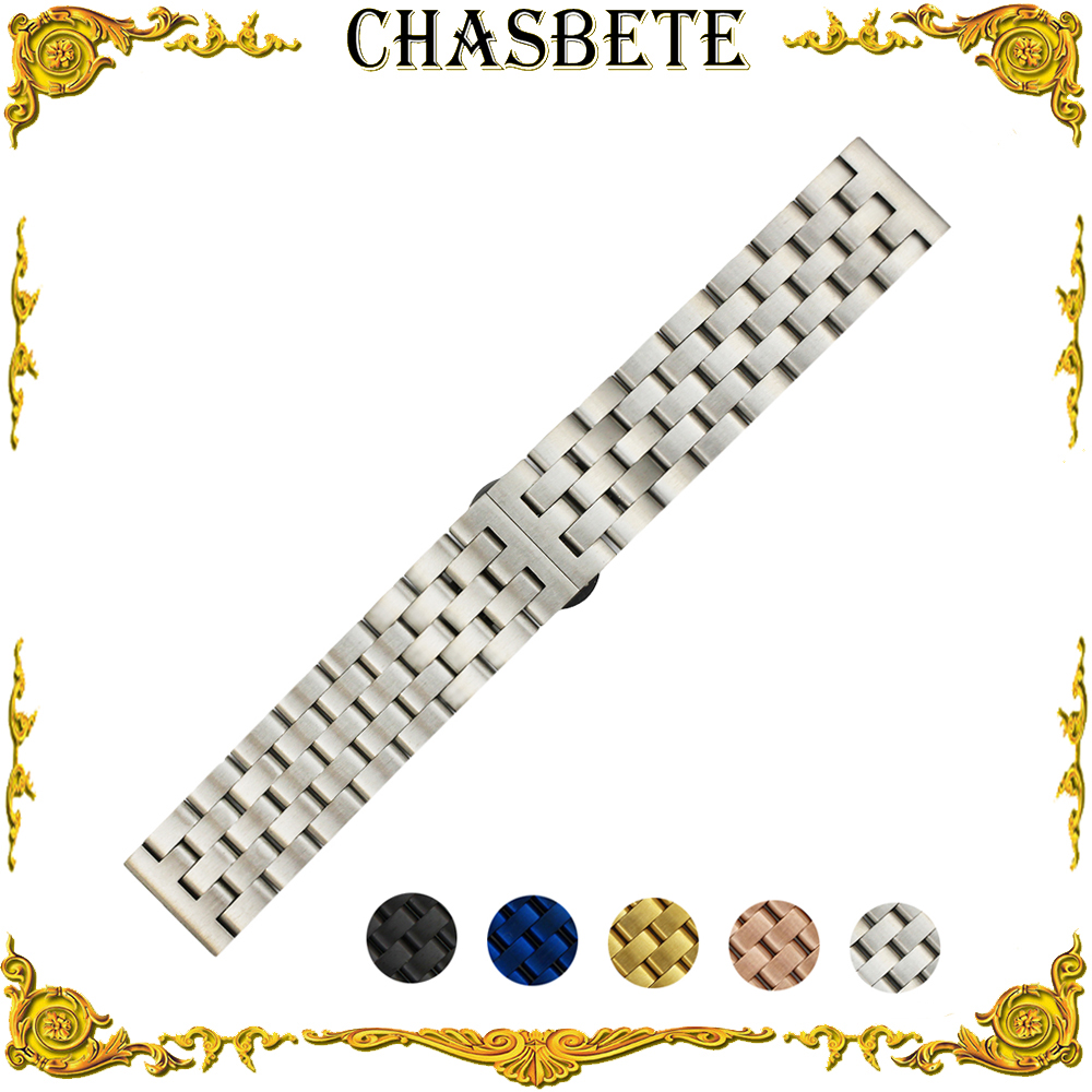 20mm 22mm Stainless Steel Watch Band for Breitling Quick Release Metal Strap Wrist Loop Belt Bracelet Silver Black Blue Gold stainless steel watch band 22mm for movado strap wrist loop belt bracelet black silver spring bar tool
