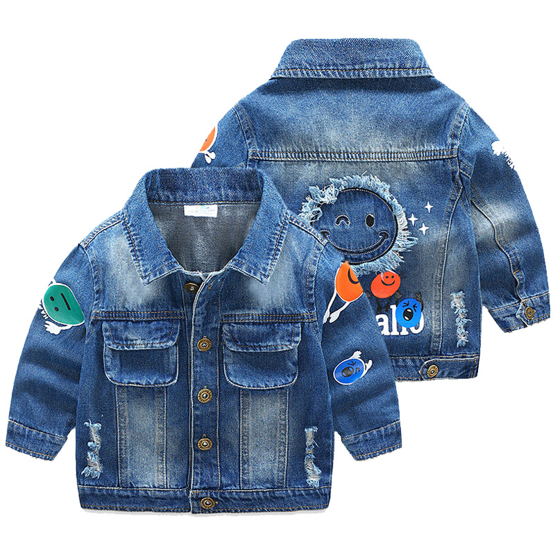 Spring Autumn Kids Jean Jacket 2 9 Years Baby Boys Ripped ...