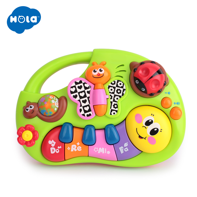 HOLA 927 Baby Toys Learning Machine Toy with Lights & Music & Learning Stories Toy Musical Instrument for Toddler 6 month+
