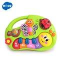 HOLA 927 juguetes para bebés juguete de la máquina de aprendizaje con luces y música y cuentos de aprendizaje juguete instrumento Musical para niños pequeños 6 mes +