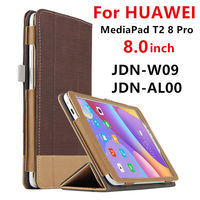 Case For Huawei MediaPad T2 8 Pro Smart cover Faux Leather Protective For HUAWEI Honor Tablet 2 JDN-W09 JDN-AL00 Case Protector