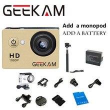 1080 P 15fps 720 P HD Действий Камеры Go Водонепроницаемый Pro Спорт Cam Видеокамера камера мини камеры Автомобильный ВИДЕОРЕГИСТРАТОР + 1 шт. батарея + монопод