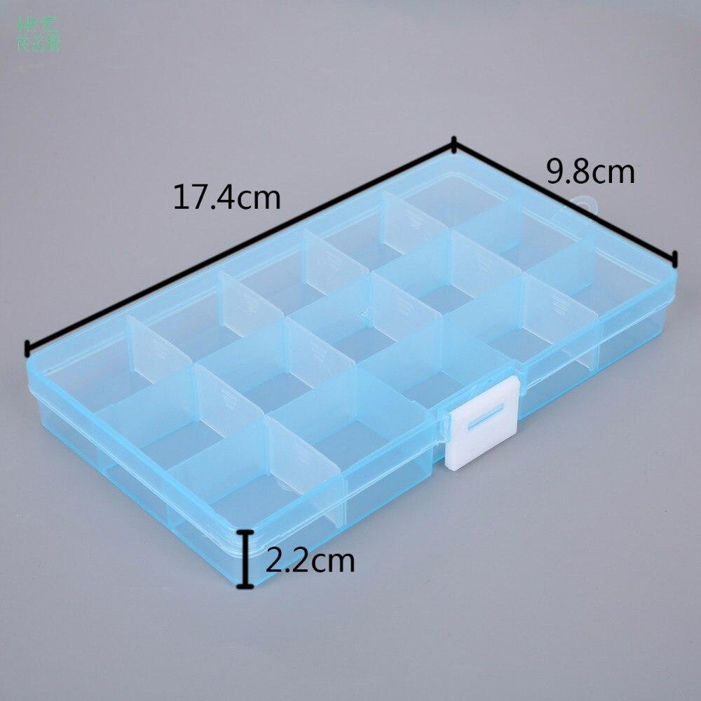 15 Cells Adjustable Jewelry Plastic Storage Box Case Craft Organizer Beads Container For Designer Jewelry Packaging Display-in Jewelry Packaging u0026 Display ... & 15 Cells Adjustable Jewelry Plastic Storage Box Case Craft Organizer ...